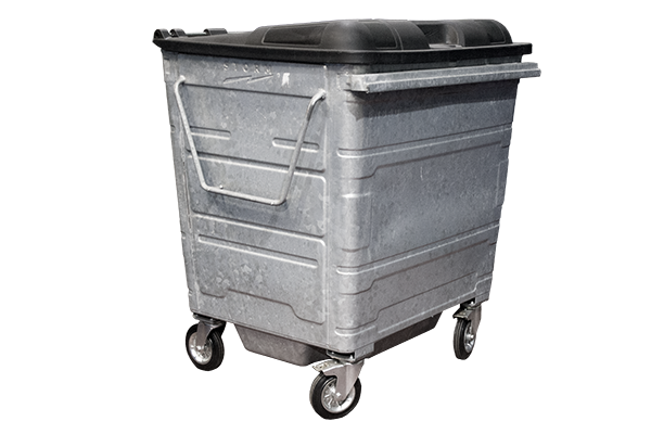 Storm 1100lt Galvanized Waste Container