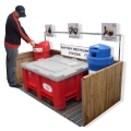 Recycling Stations and Containers for Waste Products