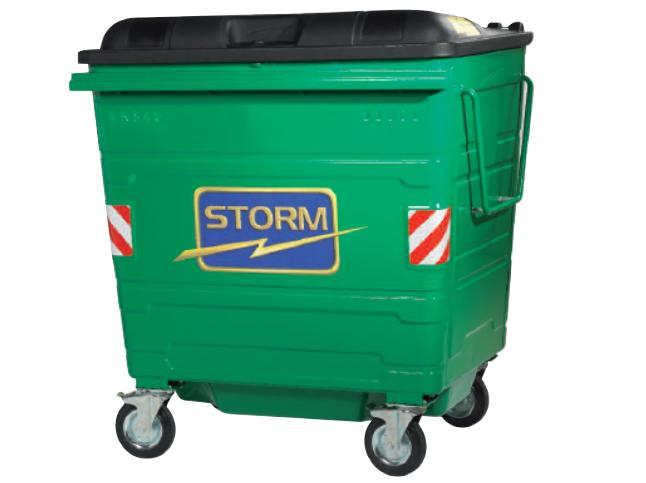 Storm 1100Ltr Powder Coated Waste Container