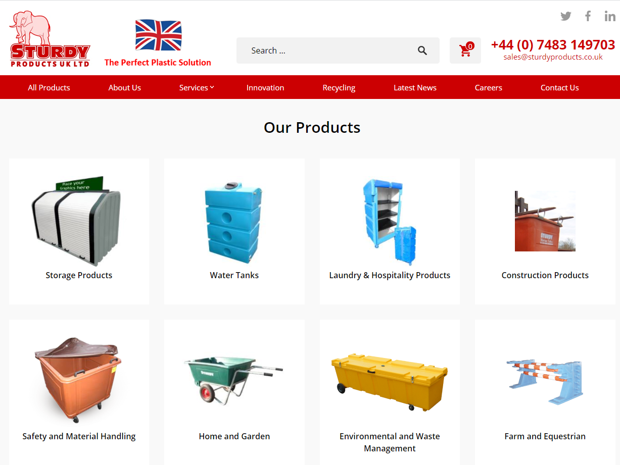 Sturdy Products launch sister website in the UK…