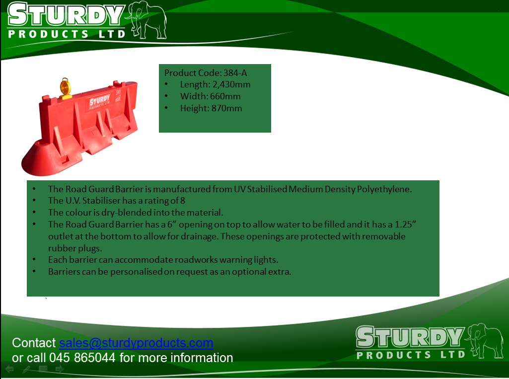 Strong and Long-Lasting Sturdy Road Guard Barriers